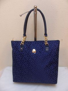 Tommy Hilfiger NS Tote 6926621 478 Color Blue Gold Retail Price $ 89.00 #TommyHilfiger #Totes
