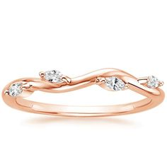 14K Rose Gold Winding Willow Diamond Ring from Brilliant Earth