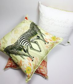 #zebra #yellow #spring #textiledesign #spring #cushion #homedecor