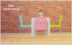 IKEA Jules chair Converted from Ts2 IKEA stuff pack Comes in 10 colors, 4 originals and 6 eversims. Credit: eversims (simblr) DOWNLOAD