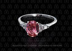 Pink sapphire engagement ring by Leon Mege    http://artofplatinum.com/vault/pink-sapphire-diamond-rings