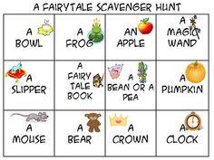 A Fairy-tale Scavenger Hunt-Freebie
