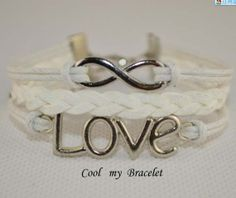 Handwoven personality infinite glamour love by Coolmybracelet, $2.99