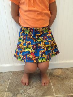 Ready to ship toddler/girl superman skirt. In by TheNerdyPrincess