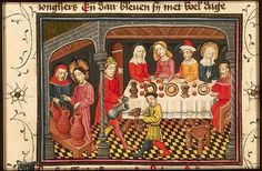 The Hague, KB, 78 D 38 II fol. 151v  Gospels The marriage-feast at Cana: Christ changes water into wine