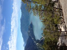 View from the Chief, looking down on Howe Sound. Love this shot: all the rewards without having to do the hike!