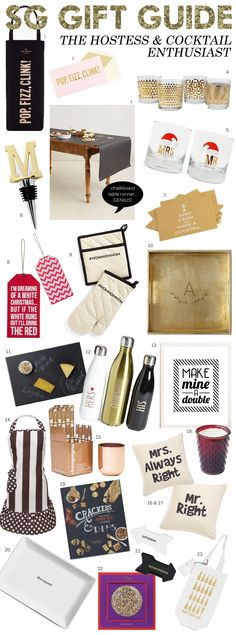 The 2013 Holiday Gift Guide For The Hostess & Cocktail Enthusiast #GiftGuide #25DaysofChristmas