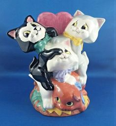 Vintage Glazed Pottery Cats Kittens Playing Cartoon Style | Pottery & Glass, Pottery & China, Art Pottery | eBay!