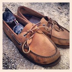 Sperrys and Ray Bans. Two prep essentials.