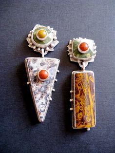 Earrings - Multi Jasper, Jim Dunakin