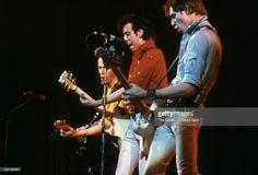The Clash (L-R Joe Strummer, Mick Jones and Paul Simonon ) performs at The Palladium on February 17, 1979 in New York City, New York.