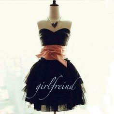 Charming sweetheart vintage prom dress with bow from Girlfriend