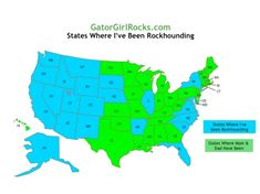 rockhounding information for all 50 states as well as the District of Columbia.  This website provides useful information for each state including information about state rocks, gems, minerals, fossils, & dinosaurs; rockhounding resources (including site guides); museums of interest to rockhounders; places to visit; and rockhounding sites for children and families.