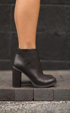 Black booties @ Maude Boutique