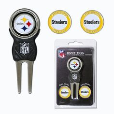 NFL Officially Licensed Divot Tool with 3 Markers Pittsburgh Steelers -- Check this awesome product by going to the link at the image.