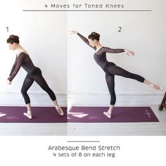4 Ballet-Inspired Moves for Toned Knees Since you've mentioned your knees. 4 Ballet-Inspired Moves for Toned Knees Since you've mentioned your knees. Ballet Barre Workout, Ballerina Workout, Ballet Workouts, Yoga Fitness, Fitness Tips, Fitness Exercises, Ballet Stretches, Basic Ballet Moves, Adult Ballet Class