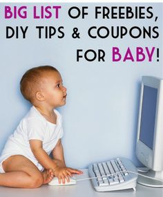 BIG List of Freebies, DIY Tips, and Deals for Baby! ~ at TheFrugalGirls.com #babies