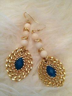 New beautiful earrings Jaqueline Barradas made!