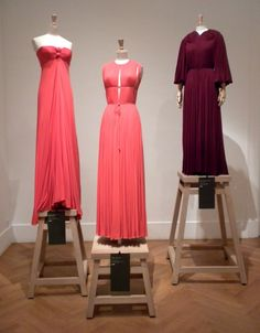 """Madame Grés once said: """"I wanted to be a sculptor. For me, working with fabric or stone is the same thing."""" Silk jersey was her medium and she dressed such women as the Duchess of Windsor, Jacqueline Kennedy Onassis, Nan Kemper, Marlene Dietrich, and Grace Kelly like """"statues in the flesh""""."""