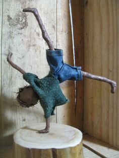 Boy doing a Cartwheel. Sculpture of boy. by Stephaniessculptures, £25.00