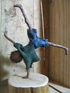 Boy doing a Cartwheel. Sculpture of boy. by Stephaniessculptures, £25.00