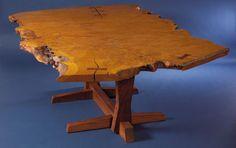 English Oak Burl Table - George Nakashima