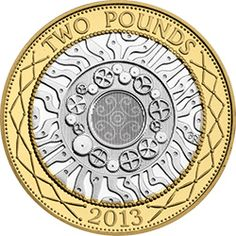 The new type of coin was introduced in 1997 and featured an innovative bi-metallic design - the first in the history of British coinage. Rare British Coins, British Coin Values, English Coins, Gold And Silver Prices, Old Coins Worth Money, Coin Dealers, Ancient Roman Coins, Coin Design, Coin Worth