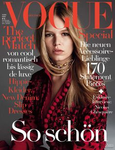 Anna Ewers featured on the Vogue Germany cover from March 2016