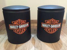 Puff Harley Davidson Recycled Furniture, Diy Furniture, Harley Davidson, Handmade Wooden, Coffee Cans, Man Cave, I Shop, Recycling, Hd Wallpaper