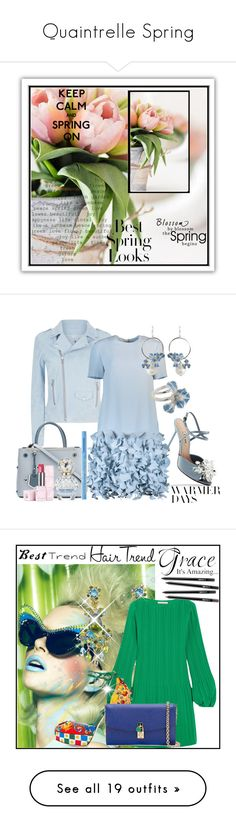 """Quaintrelle Spring"" by bibiantje-m on Polyvore featuring mode, Miu Miu, 7 For All Mankind, Fendi, Catherine Regehr, Misis, Marc Jacobs, Too Faced Cosmetics, Guerlain en springdresses"