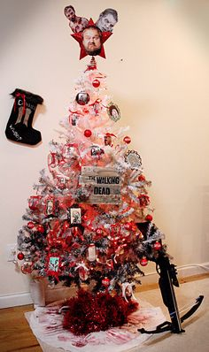 The Walking Dead Themed Christmas tree.