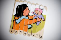 Popsicle Stick Puzzles - could use for counting patterns (2s,5s,etc)