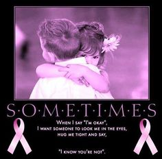 Sometimes...breast cancer