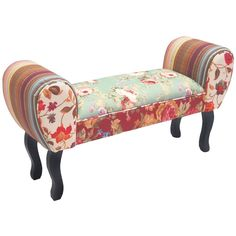 Image result for footstool colourful birds flowers