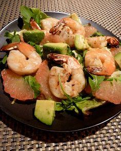 Shrimp, Grapefruit and Avocado Salad