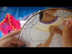 Pintura en tela vendedora de flores # 3 con cony