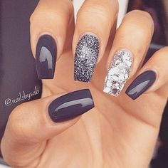 Best Winter Nails for 2018 - 45 Cute Winter Nail Designs - B.- Best Winter Nails for 2018 – 45 Cute Winter Nail Designs – Best Nail Art Best Winter Nails for 2018 – 45 Cute Winter Nail Designs – Best Nail Art - Winter Nail Art, Winter Nail Designs, Cool Nail Designs, Acrylic Nail Designs, Acrylic Nails, Autumn Nails, Shellac Designs, Winter Nails 2019, Acrylics