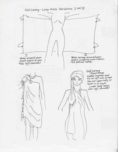 tie a sarong, two dresses