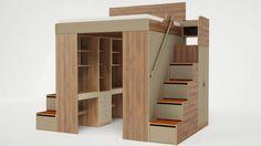 Met deze hoogslaper bespaar je veel ruimte in je kleine slaapkamer!