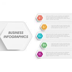 5つのオプションを持つ幾何学的なビジネスインフォグラフィック