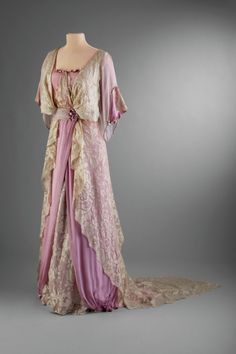 Satin and Lace Afternoon Dress, ca. 1910-14  Worn by Marjorie Merriweather Post