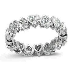 Promise ring ~ Infinity Heart Diamond Ring