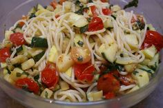 Zucchini and squash pasta dish... Made this tonight and it was delicious!
