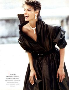 Linda Evangelista, Vogue Italia, September 1988, by Peter Lindbergh