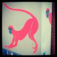 #katutaidetta #art #streetart #pink #monkeys minkeys like #inspectorClouseau say it