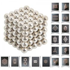125pcs 5mm DIY Buckyballs Neocube Magic Beads Magnetic Toy Silver white.  Check this out at the Tmart link on MomTheShopper.