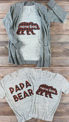 Buffalo Plaid Mama Bear Shirt | Maternity Shirt | Baby Announcement | Mom Life| Baby Shower Gift #affiliate #momlife #mamabear #momfashion