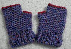 Guantes sin dedos: mitones tejidos al crochet | Feria Central