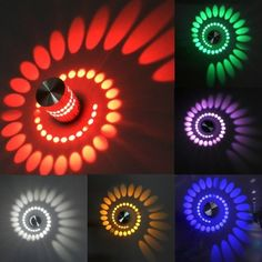 Spiral 3W LED Wall Hall Porch Walkway Lobby Light Fixture Bulb Lamp 85-265V - Oh Yours Fashion - 1