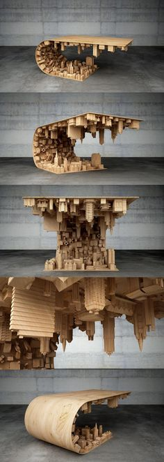 Coffee table designed based on scene from Inception - 9GAG